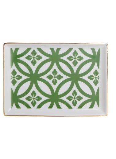 Porland Morocco Kahvaltı Tabağı Desen1 Yeşil 18x13cm Yeşil